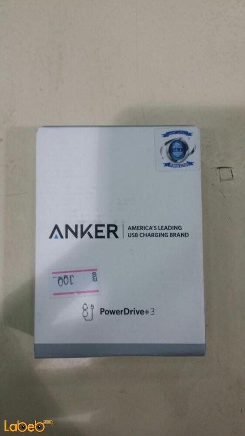 شاحن سيارة أنكر 3 منافذ USB اسود A2231