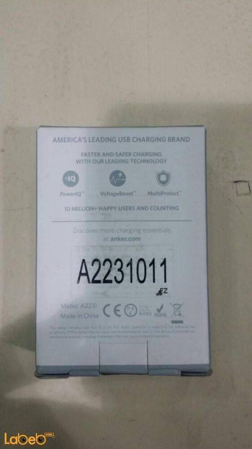 شاحن سيارة A2231 أنكر 3 منافذ USB اسود