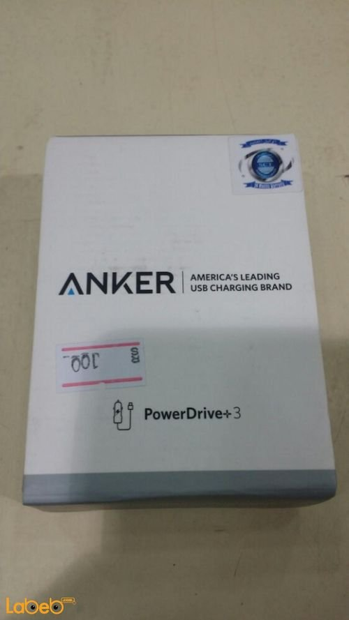 Anker PowerDrive+ 3 Car Charger Black A2231 model