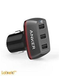 شاحن سيارة أنكر 3 منافذ USB اسود A2231 PowerDrive+ 3