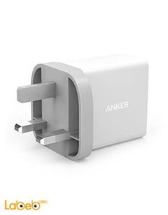 Anker Wall Charger - 24W - 2 Port USB - White color - A2021221