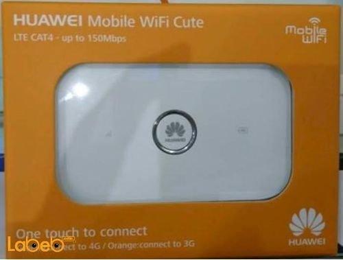 راوتر هواوي واي فاي 4G سعة 1500mAh لون أبيض E5573s-856
