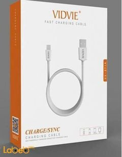 Vidvie fast charging cable - for iPhone devices - White color