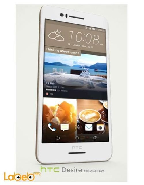 HTC Desire 728 smartphone 32GB 5.5 inch white color
