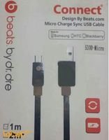 Beats by dr dre Micro charge sync usb cable 5300-micro 1m Black