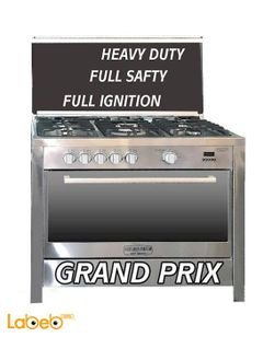Romo international grand prix Oven - 5 Burners - Stainless Steel