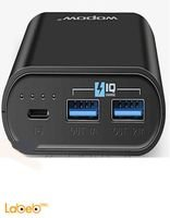 Wopow Power Bank P10+plus 10,050mAh 2xUSB Black -