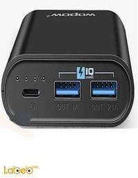 بطارية محمولة Wopow P10+plus سعة 100500mAh منفذين USB أسود