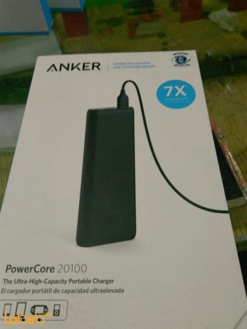بطارية محمولة انكر موديل A1271H12 سعة 20100mAh منفذين USB أسود