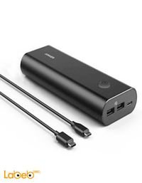 بطارية محمولة انكر 20100mAh منفذين USB أسود A1271H12