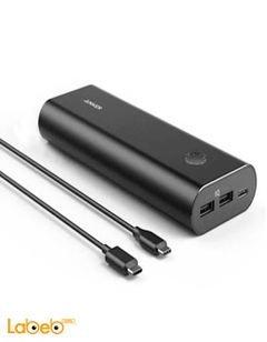 بطارية محمولة انكر - 20100mAh - منفذين USB - أسود - A1271H12