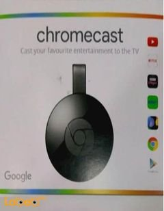 Chromecast your favourite entertainment to the TV - black color