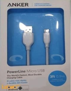 Anker Micro USB - Android devices - 0.9m - White - A8132H21