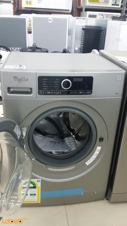 Silver Whirlpool Front Load Washing Machine 8kg FSCR80211
