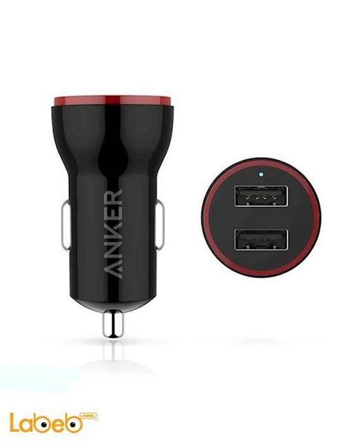 Anker PowerDrive 2 2-Port USB Car Charger Universal Black
