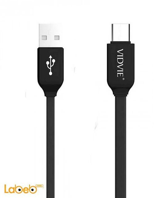 Vidvie ChargeSync Cable black color