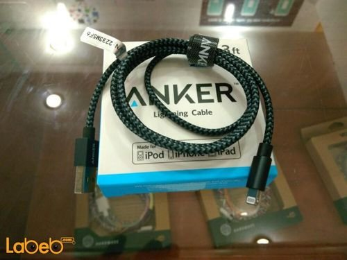 black Anker Lighting cable Iphone devices