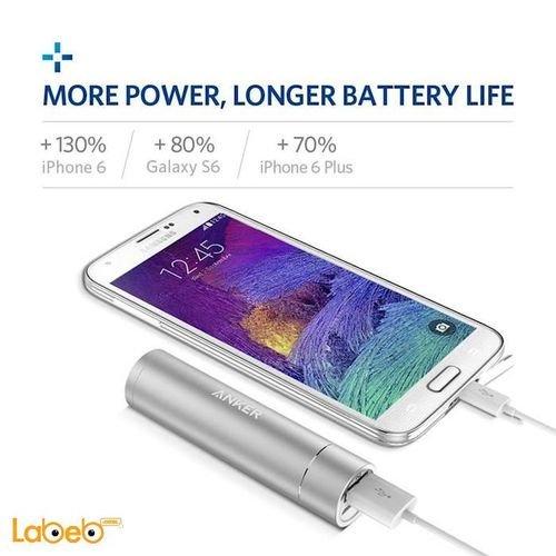 silver Anker PowerCore+ mini USB Port