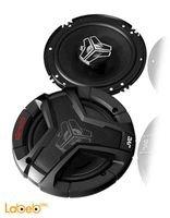 سماعات JVC دائرية للسيارة قدرة 250 واط لون أسود CS-V628