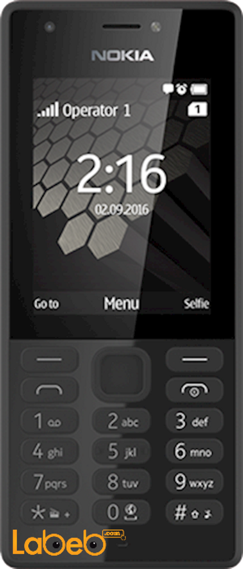 Nokia 216 Dual sim mobile 16MB RAM 2.4inch Black color