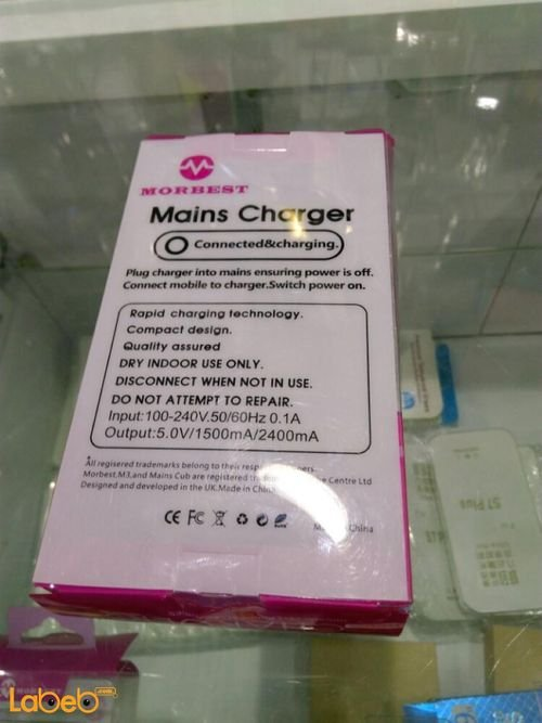 specifications morbest mains USB Travel charger iPhone 6G