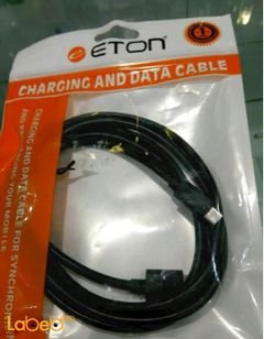 ETON charging and data cable - 1.5M - black color - CB-225C