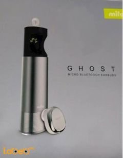 ghost micro bluetooth earbuds - 8 hours - silver color
