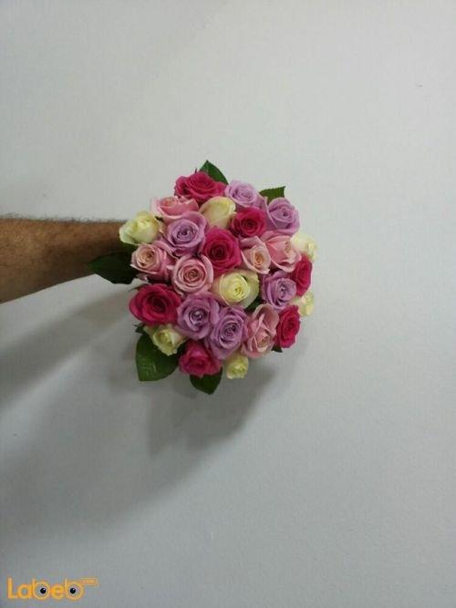 Bride Bouquet Holder Colorful flowers Lilium Rose flowers