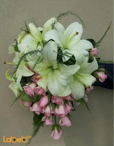 Bride Bouquet Holder - Colorful flowers - Lilium - Rose flowers