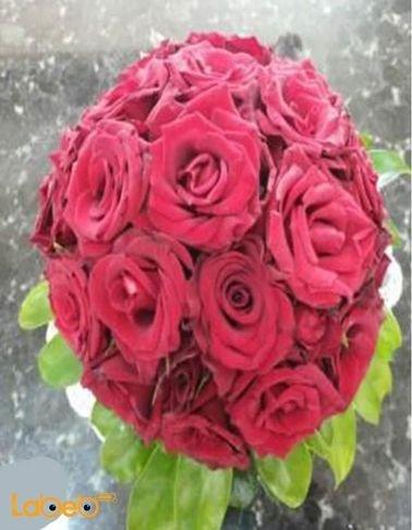 Bride Bouquet Holder - Rose flowers - Red color