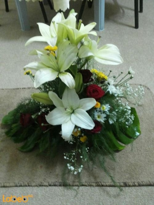 Flower Bouquet with base from Lilium krez rose flower jabothel