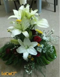 Flower Bouquet with base - Lilium - krez - rose flower - jabothel