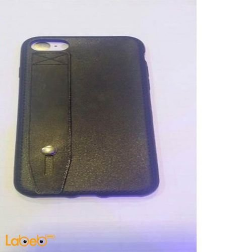 mobile back cover for iphone 7 leather Black color
