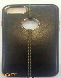 mobile back cover - for iphone 7 - leather - Black color