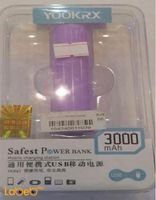 Yookrx Power Bank 3000 mAh capacity pink color YK861 model