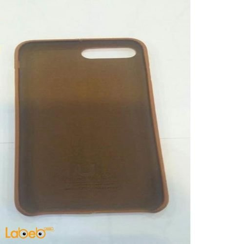 mobile back cover for iphone 7 plus leather brown color
