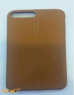 mobile back cover - for iphone 7 plus - leather - brown color