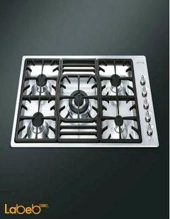 Smeg gas hob - 5 burners - 90cm - stainless steel - PGF95-4 model
