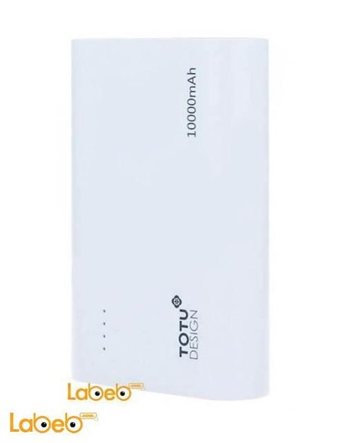 Totu Design Power Bank 10000 mAh dual USB port White