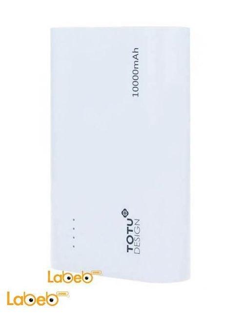 شاحن محمول Totu Design سعة 10000mAh منفذين USB لون ابيض