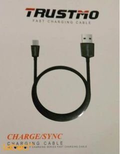 Trustmo charge/sync cable - Black color - fast charging
