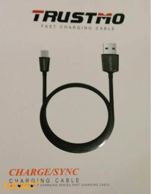 Trustmo charge/sync cable Black color fast charging