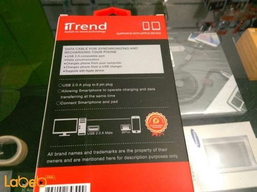 iTrend charge & sync cable specifications Apple device 2m White TR309BX