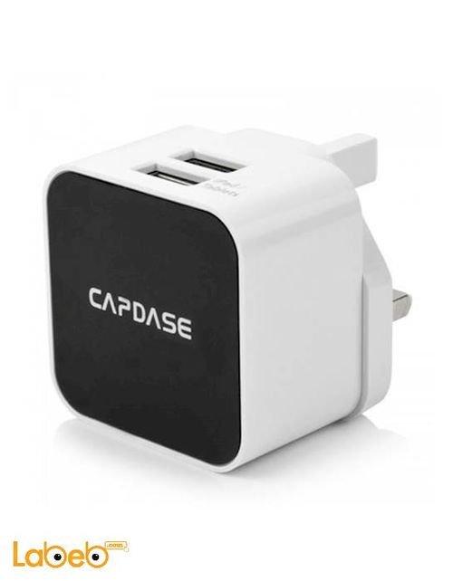 عظمة شاحن مخرجين يو اس بي Capdase لون أبيض Cube K2
