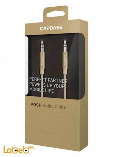 كابل صوت Capdase طول الكابل 1.2 متر ذهبي AV00-P00C