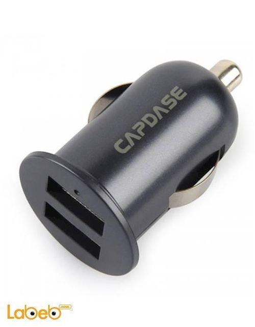 عظمة شاحن للسيارة مخرجين USB كابداس يونيفرسال أسود Pico F2S