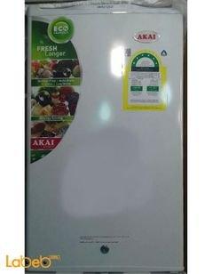 ثلاجة مكتب AKAI - سعة 125 لتر - لون ابيض - موديل AKRS125W
