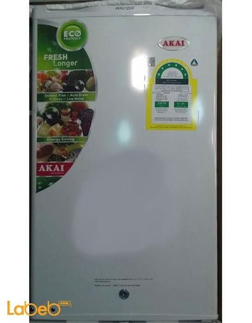 White AKAI mini bar Refrigerator 125 liter