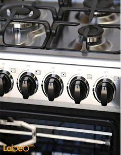General Super oven - 5 burners - 60x90cm - silver color