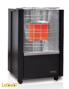 Romo Gas Grand Heater - 3 heater setting - safety - black color